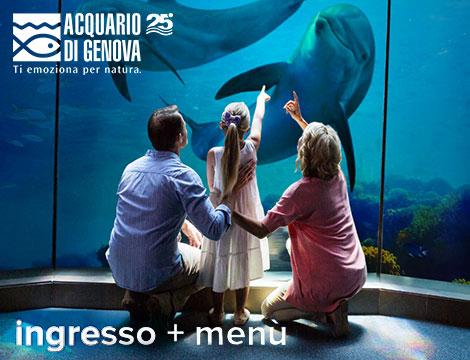 Acquario di Genova con menu_N