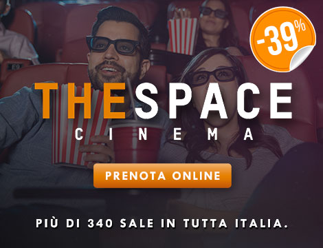 Biglietto 3D con menu cinema The Space_N