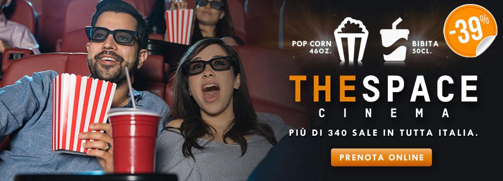 Biglietto 3D con menu cinema The Space_N
