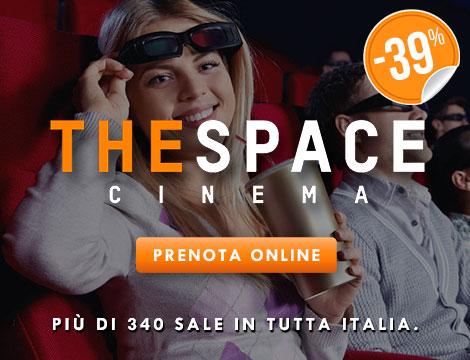 Biglietto singolo 3D con menu The Space