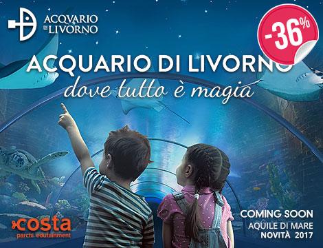 Biglietto singolo Acquario di Livorno