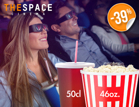 Biglietto singolo The Space 3D con menu