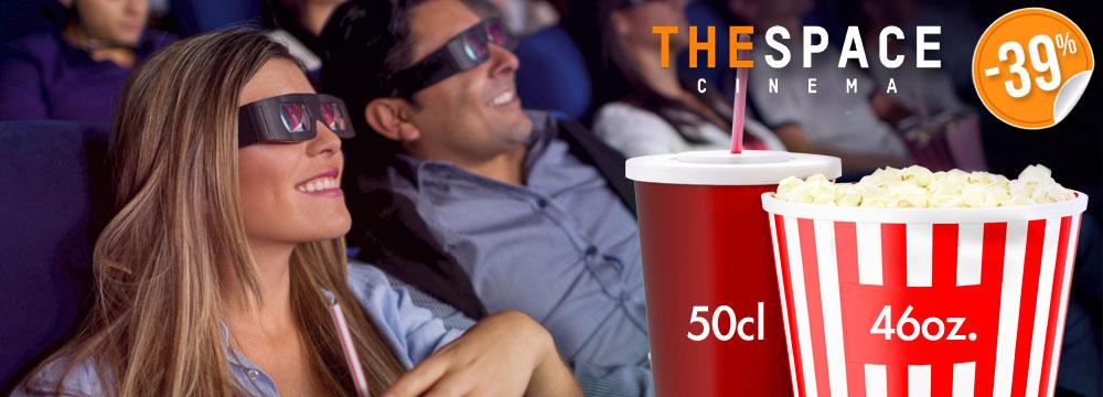 Biglietto singolo The Space 3D con menu