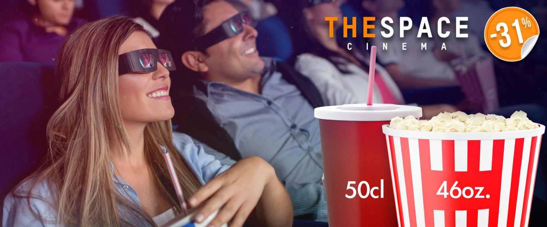 Carrefour biglietto The Space 3D con menu