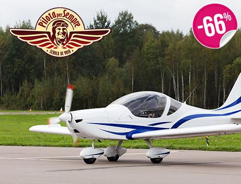 Esperienza di volo con prova di pilotaggio