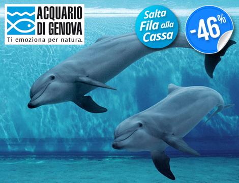Ingresso all'Acquario di Genova