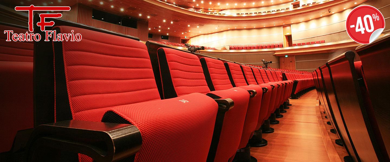 3 spettacoli poltrona x1 Teatro Flavio_N